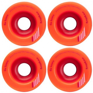 Orangetang Longboard Profi Wheels Keano 66mm / 80a Orange - Longboard Cruiser Wheel Set (4 Rollen)