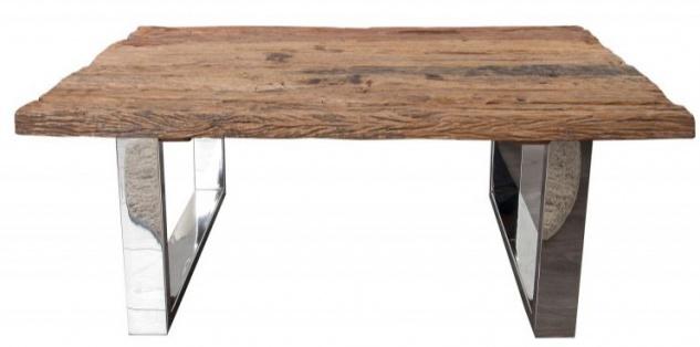 Casa Padrino Designer Massivholz Couchtisch Natur 110 x H. 45 cm - Salon Wohnzimmer Tisch - Vorschau 1