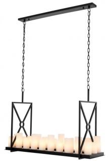 Casa Padrino Luxus Designer Kronleuchter mit Fernbedienung - Möbel Lüster Leuchter Hängeleuchte Hängelampe