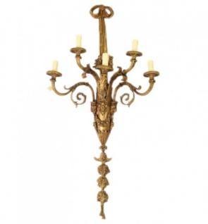 Casa Padrino Barock Wandleuchten Set Bronze Oxidiert Antik Stil - Wandlampe Wand Beleuchtung (2 Leuchten) - Vorschau 2