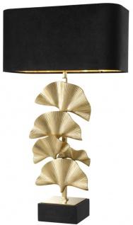 Casa Padrino Luxus Messing Tischleuchte mit Granitsockel - Designer Kollektion