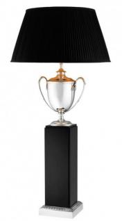 Casa Padrino Luxus Tischleuchte Silber - Luxus Hotel Leuchte