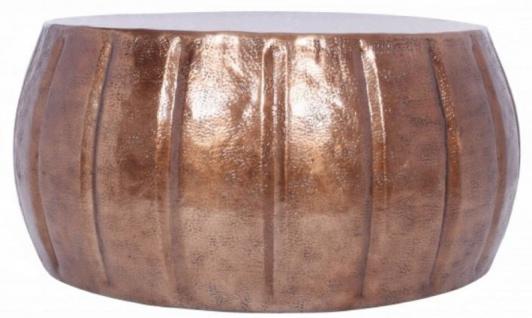 Casa Padrino Aluminium Couchtisch Kupfer Ø 65 x H. 31 cm - Runder Wohnzimmertisch im orientalischen Stil - Wohnzimmer Möbel - Vorschau 2