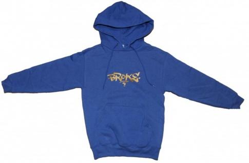 Broke Skateboard Pullover Basic Hoodie Navy Sweater