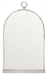 Casa Padrino Luxus Wand Spiegel Wandspiegel vernickeltes Metall - schwere Ausführung - 93 x 56 cm