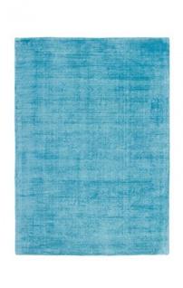 Casa Padrino Designer Teppich Vintage Look Viscose Türkis - Handgefertigt - Möbel Teppich