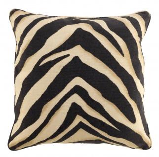 Casa Padrino Zierkissen im Zebra Design 60 x H. 60 cm - Luxus Wohnzimmer Kissen