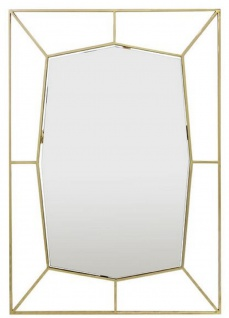 Casa Padrino Designer Wandspiegel Gold 67 x H. 100 cm - Edelstahl Spiegel - Luxus Deko Accessoires