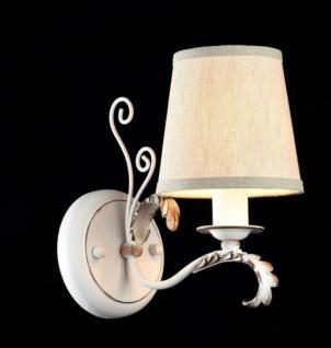 Casa Padrino Barock Wandleuchte Antik Weiß 13 x H 22 cm Antik Stil - Wandlampe Wand Beleuchtung