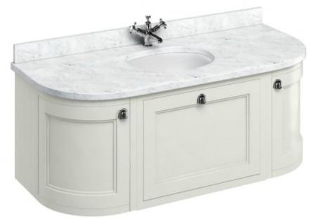 Casa Padrino Luxus Hänge-Waschschrank mit Marmorplatte Schublade und 2 Türen - Antik Stil Waschtisch