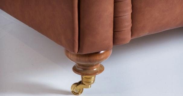 Casa Padrino Luxus Chesterfield Sofa Braun 240 x 100 x H. 78 cm - Edles Wohnzimmer Sofa - Chesterfield Möbel - Vorschau 4