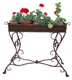 Casa Padrino Blumenständer aus Schmiedeeisen - verschiedene Farben - 113 cm x 45 cm x H83 cm - Luxus Gartenmöbel