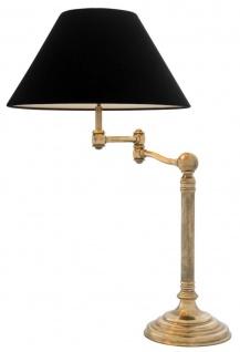 Casa Padrino Luxus Tischleuchte mit Schwenkarm in vintage messing 27 x 50 x H. 90 cm - Wohnzimmer Möbel
