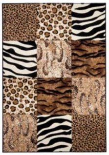 Casa Padrino Design Teppich Beige - Leopard Tiger Zebra - Designer Teppich