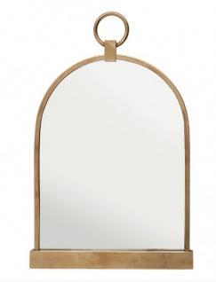 Casa Padrino Luxus Tisch Spiegel Schminkspiegel - Schminktisch Spiegel Antik Messing Farben 57 x 36 cm