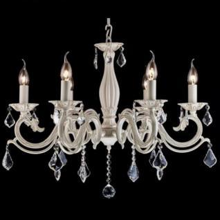 Casa Padrino Barock Decken Kristall Kronleuchter Creme Gold 67 x H 53 cm Antik Stil - Möbel Lüster Leuchter Hängeleuchte Hängelampe