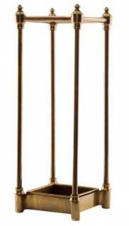 Casa Padrino Luxus Schirmständer Antique Brass Finish - Luxus Kollektion - Messingfarben