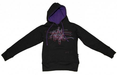 8MilesHigh Skateboard Hoodie Black/Purple Scribble Sweater