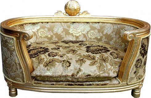 Pompöös by Casa Padrino Luxus Barock Hunde & Katzenbett Gold Bouquet Muster / Gold von Harald Glööckler