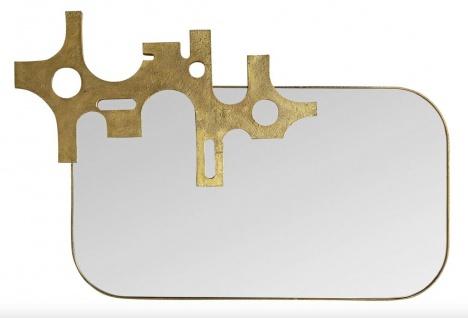 Casa Padrino Luxus Designer Spiegel Bronze - Gold Optik 81 x 54 cm - Art Design
