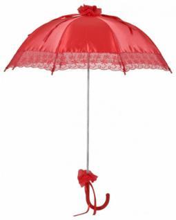 MySchirm Designer Brautschirm Hochzeitsschirm aus rotem Satin - Decoschirm - Vorschau 1