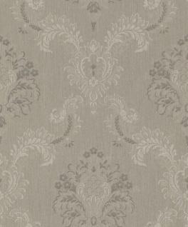 Casa Padrino Barock Textiltapete Braun / Grau 10, 05 x 0, 53 m - Hochwertige Wohnzimmer Tapete im Barockstil
