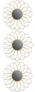 Casa Padrino Designer Spiegel / Wandspiegel 3er Set Gold Ø 25 cm - Deko Accessoires