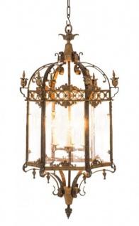 Casa Padrino Luxus Laterne - Luxus Hängeleuchte Antik Messing Durchmesser 57 x H 120 cm