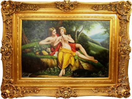 Handgemaltes Barock Öl Gemälde Gold Prunk Rahmen 130 x 100 x 10 cm - Ölgemälde Antik Stil
