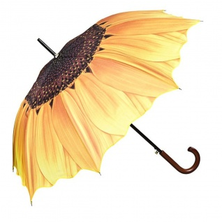 MySchirm Designer Regenschirm mit schönem Sonnenblumenmotiv - Eleganter Stockschirm - Luxus Design - Automatikschirm
