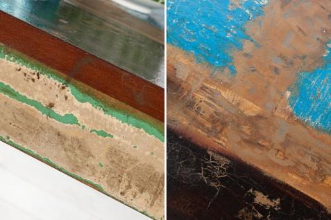 Casa Padrino Designer Massivholz Couchtisch Bunt 100 x H. 45 cm - Massivholz - Salon Wohnzimmer Tisch - Vorschau 2