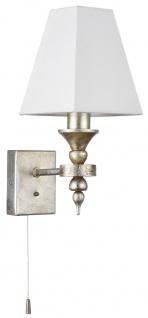 Casa Padrino Luxus Barockstil Wandleuchte Antik Gold / Weiß 12 x 18 x H. 29 cm - Barock Möbel