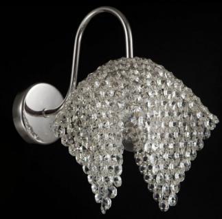 Casa Padrino Jugendstil Kristall Wandleuchte Nickel 9 x H 17 cm Jugendlicher Stil - Wandlampe Wand Beleuchtung
