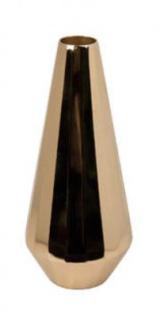 Casa Padrino Vase / Blumenvase Gold Ø 11 x H. 26, 5 cm - Luxus Dekoration