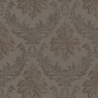 Casa Padrino Barock Textiltapete / Stofftapete Braun - 10, 05 x 0, 53 m - Tapete mit Vlies Struktur