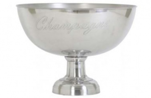 Casa Padrino Luxus Champagnerkühler Durchmesser 50 x H. 36 cm - Aluminium Champagner Kühler Wein Kühler