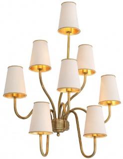 Casa Padrino Luxus Wandleuchte Vintage Messingfarben / Creme 66 x 36 x H. 83 cm - Hotel & Restaurant Wandlampe - Luxus Qualität
