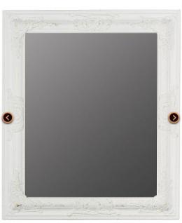 Casa Padrino Barock Wandspiegel Weiss Höhe 62 cm, Breite 52 cm - Edel & Prunkvoll - Vintagelook - Handgefertigt