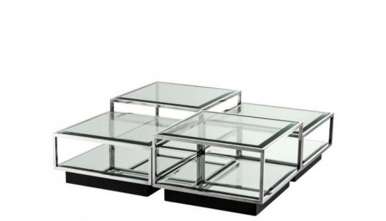 Casa Padrino Art Deco Luxus Couchtisch 4er Set - Wohnzimmer Salon Tisch