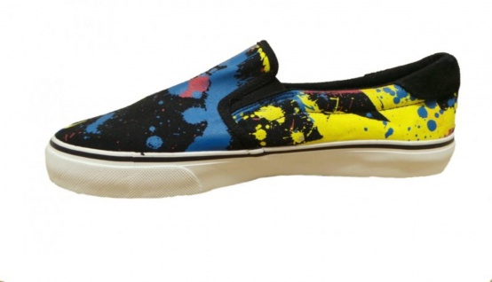Fallen Schuhe Skateboard Schuhe Slip On Loker Black/Paint Beliebte Schuhe Fallen 7f6e99