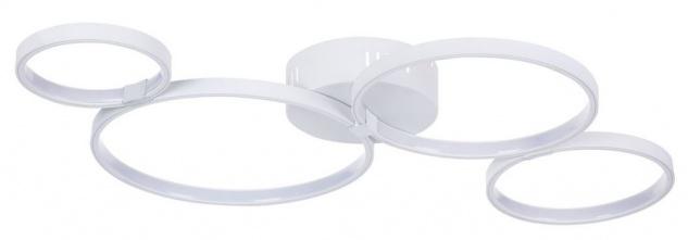 Casa Padrino Decken- und Wandleuchte Weiß 74 x 44 x H. 7 cm - Moderne LED Leuchte