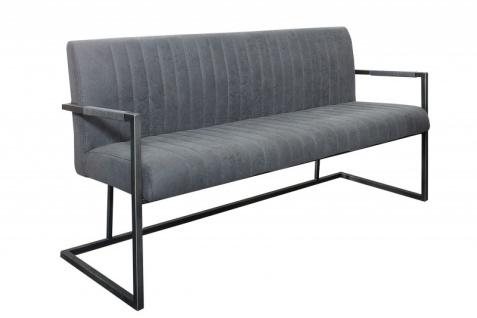 Casa Padrino Designer Sitzbank Vintage Grau Breite 160 cm, Höhe 87 cm