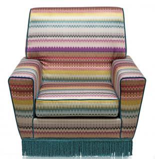 Casa Padrino Luxus Sessel Mehrfarbig 80 x 85 x H. 80 cm - Wohnzimmer Möbel