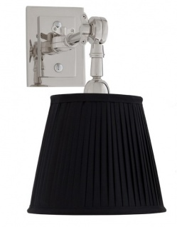Casa Padrino Luxus 1er Wandleuchte Schwarz / Nickel Finish - Leuchte - Luxury Collection - Vorschau 2