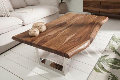 Casa Padrino Designer Massivholz Sheesham Couchtisch Natur Braun 110 x H. 40 cm - Salon Wohnzimmer Tisch - Vorschau 2