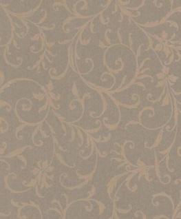 Casa Padrino Barock Textiltapete Taupe 10, 05 x 0, 53 m - Tapete im Barockstil - Deko Accessoires
