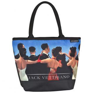 """Designer Shoppertasche mit dem Motiv des schottischen Künstlers Jack Vettriano """" Walzer"""" - Elegante Tasche - Luxus Design"""