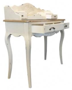 Casa Padrino Landhausstil Sekretär Antik Weiß / Braun 90 x 40 x H. 102 cm - Sekretär im Shabby Chic Look - Vorschau 2