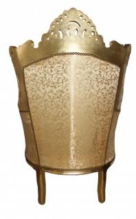 Casa Padrino Barock Sessel Al Capone Mod2 Gold Muster / Gold 85 x 65 x H. 127 cm - Antik Stil - Vorschau 2