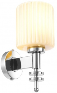 Casa Padrino Luxus Wandleuchte Silber / Vintage Weiß 13 x 18 x H. 28, 5 cm - Hotel & Restaurant Wandlampe mit Glas Lampenschirm - Vorschau 2